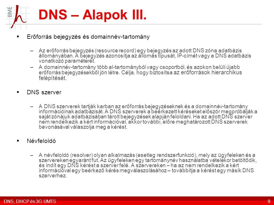 DNS – Alapok III. Erőforrás bejegyzés és domainnév-tartomány