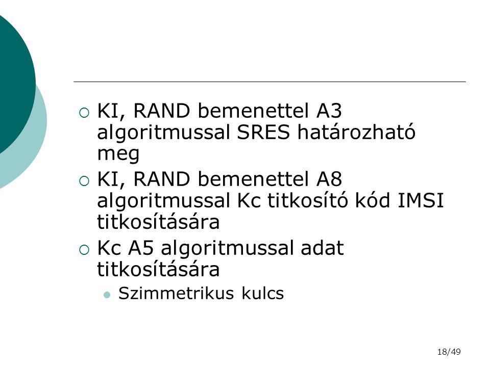 KI, RAND bemenettel A3 algoritmussal SRES határozható meg