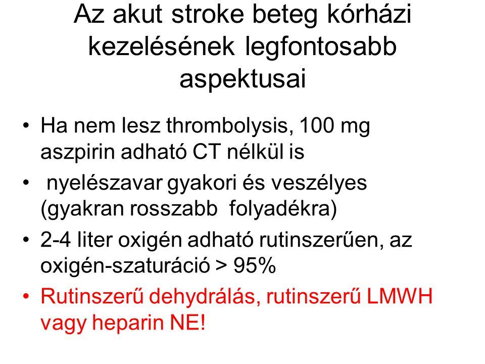 Az akut stroke beteg kórházi kezelésének legfontosabb aspektusai