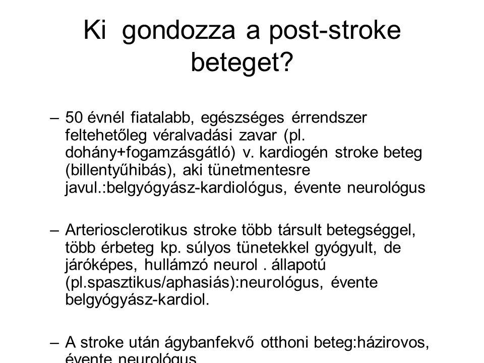 Ki gondozza a post-stroke beteget