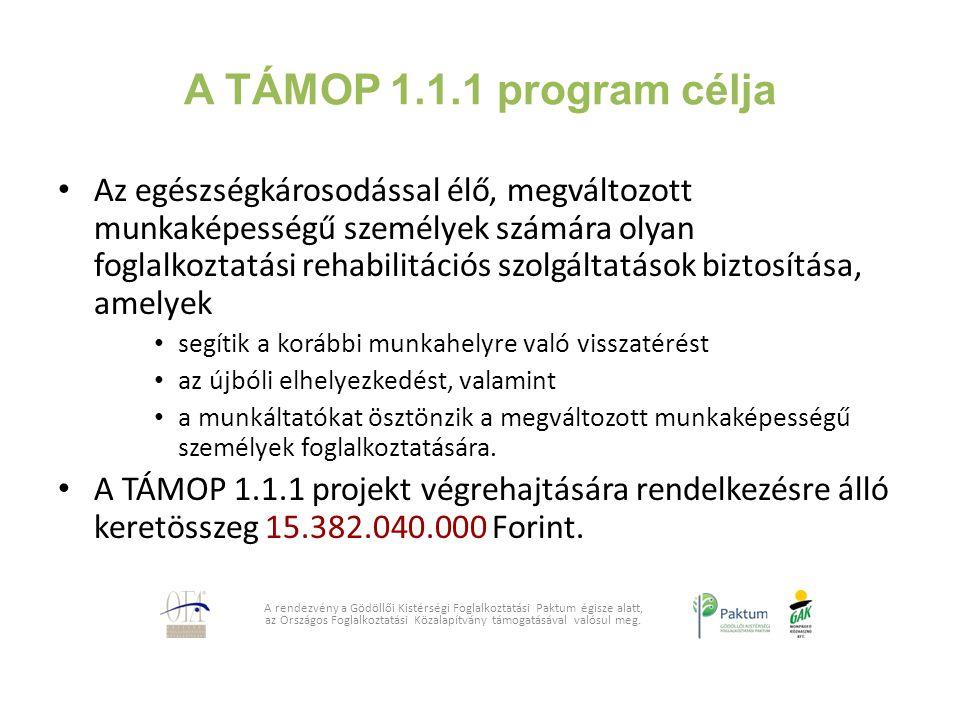 A TÁMOP 1.1.1 program célja