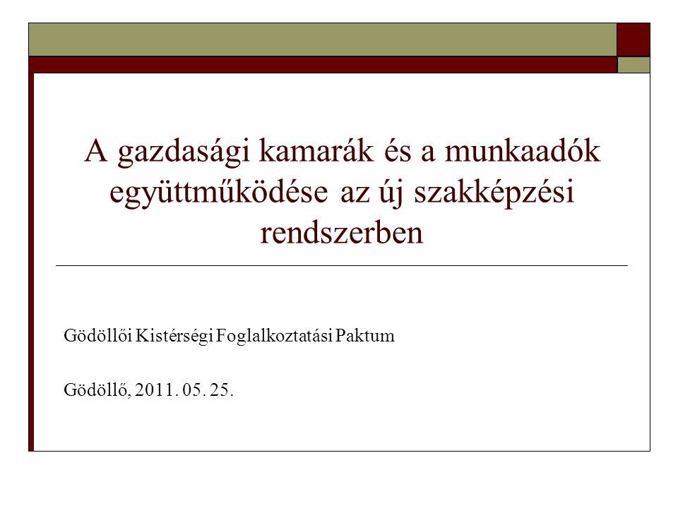 Gödöllői Kistérségi Foglalkoztatási Paktum Gödöllő, 2011. 05. 25.