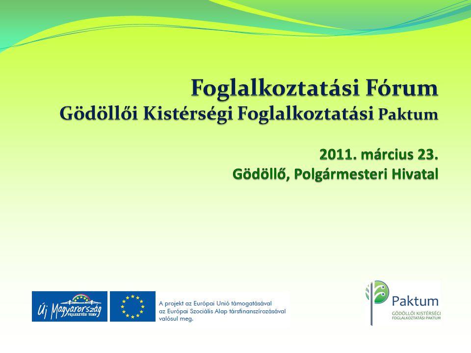 Foglalkoztatási Fórum Gödöllői Kistérségi Foglalkoztatási Paktum 2011