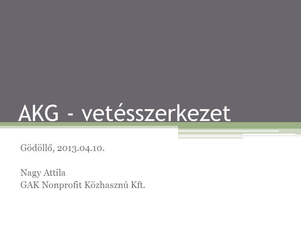 Gödöllő, 2013.04.10. Nagy Attila GAK Nonprofit Közhasznú Kft.