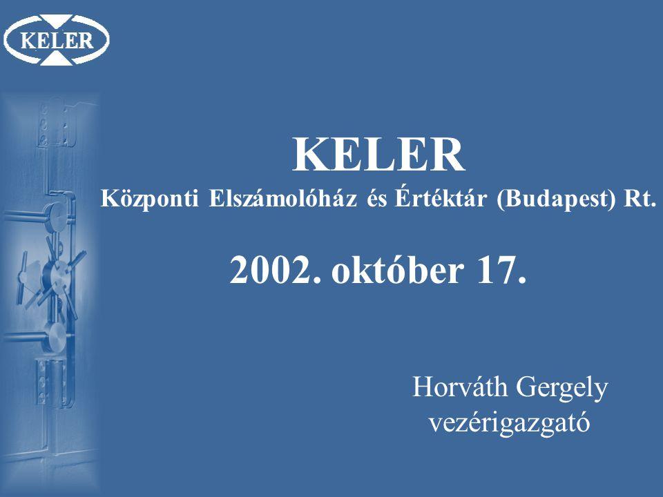 KELER Központi Elszámolóház és Értéktár (Budapest) Rt. 2002. október 17.