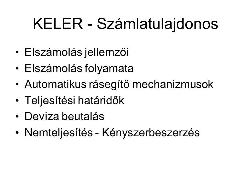 KELER - Számlatulajdonos
