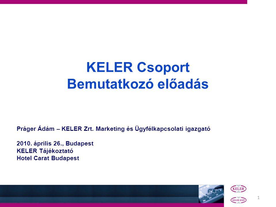 KELER Csoport Bemutatkozó előadás
