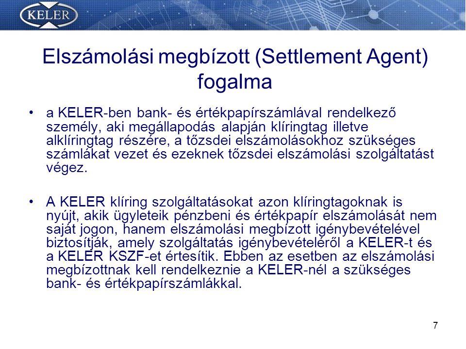 Elszámolási megbízott (Settlement Agent) fogalma