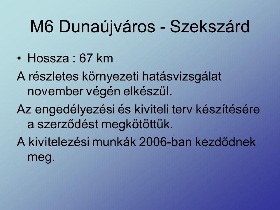 M6 Dunaújváros - Szekszárd