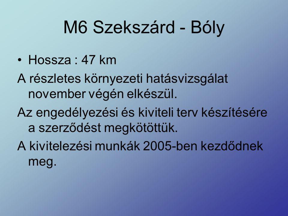 M6 Szekszárd - Bóly Hossza : 47 km