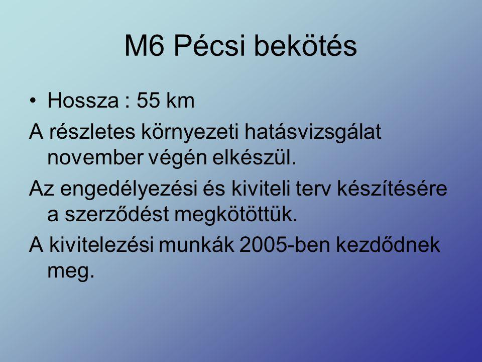 M6 Pécsi bekötés Hossza : 55 km