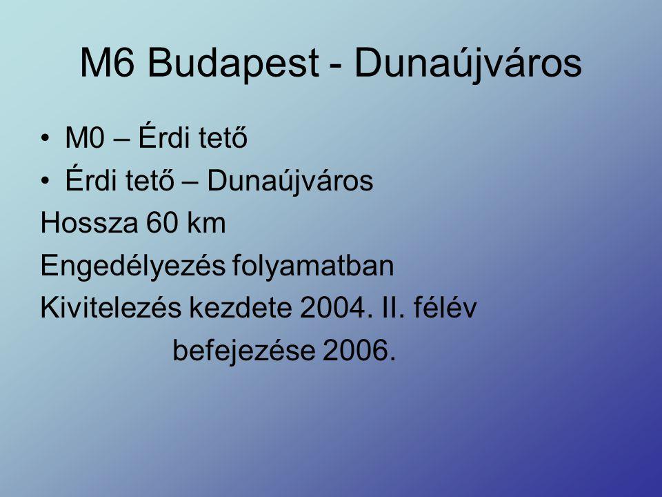 M6 Budapest - Dunaújváros