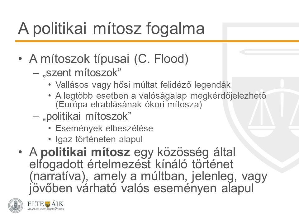 A politikai mítosz fogalma