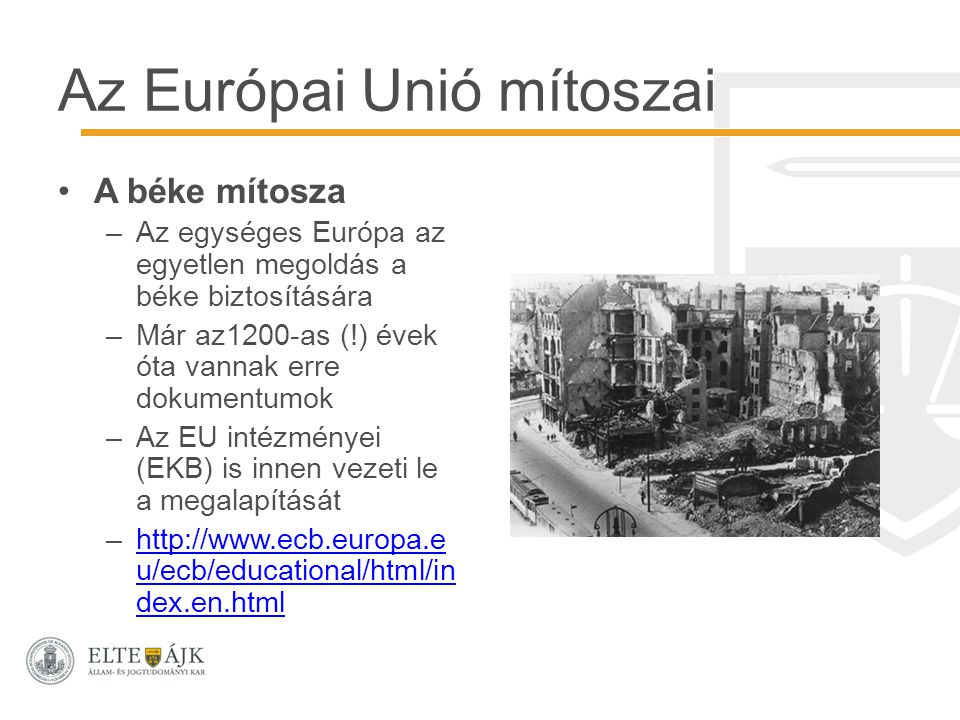 Az Európai Unió mítoszai