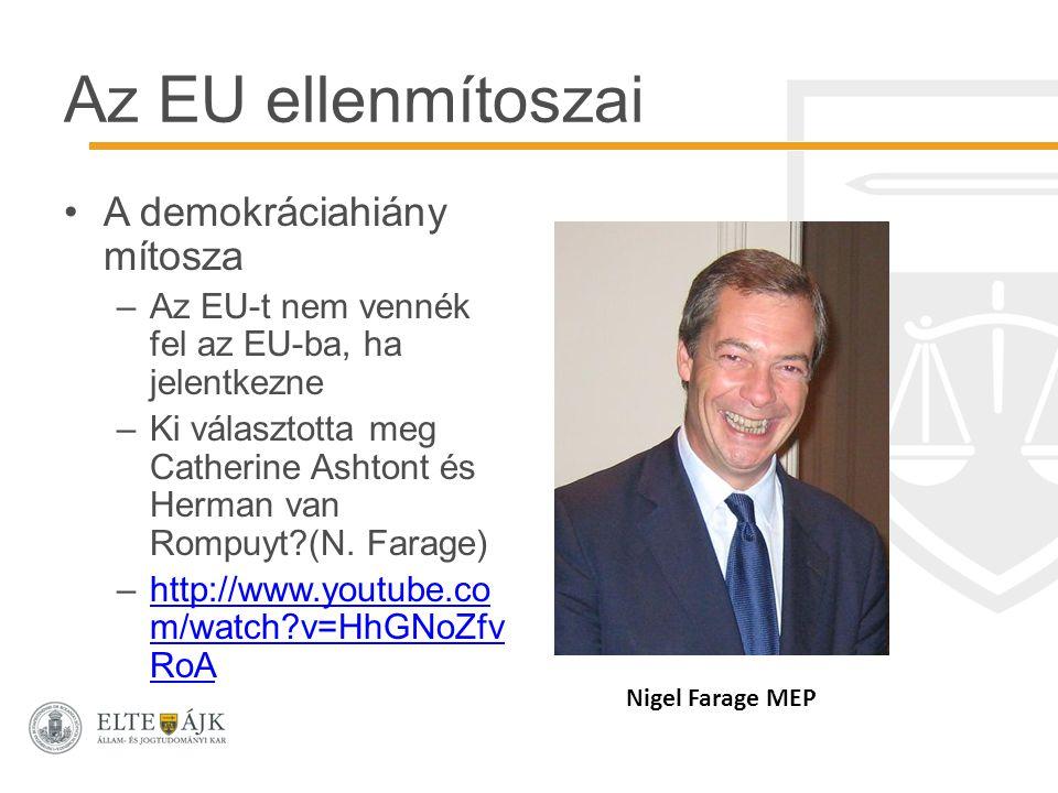 Az EU ellenmítoszai A demokráciahiány mítosza