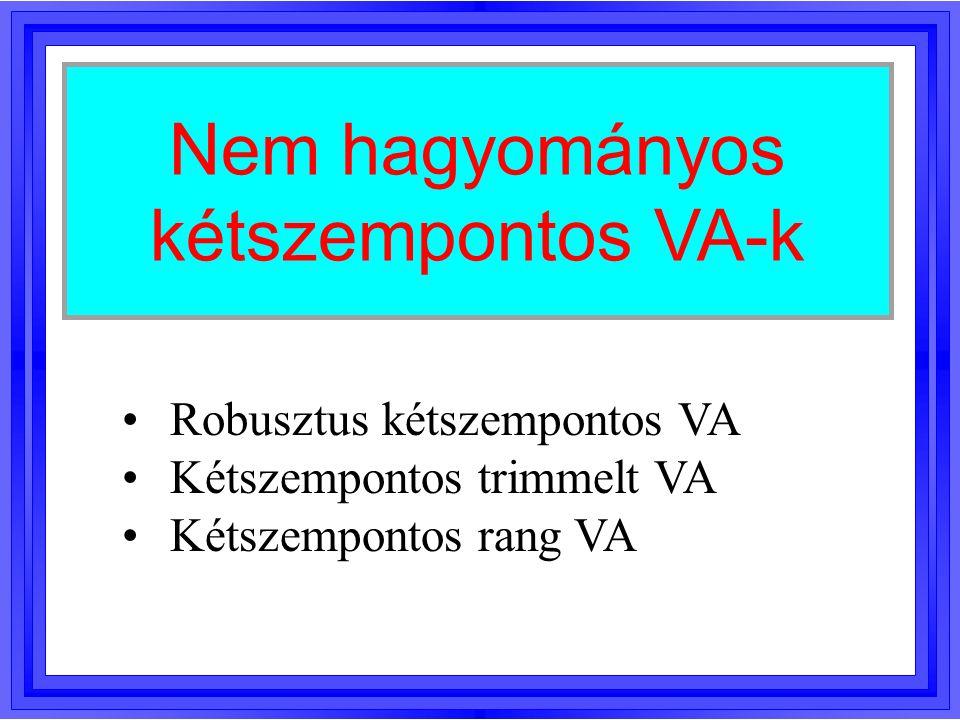 Nem hagyományos kétszempontos VA-k