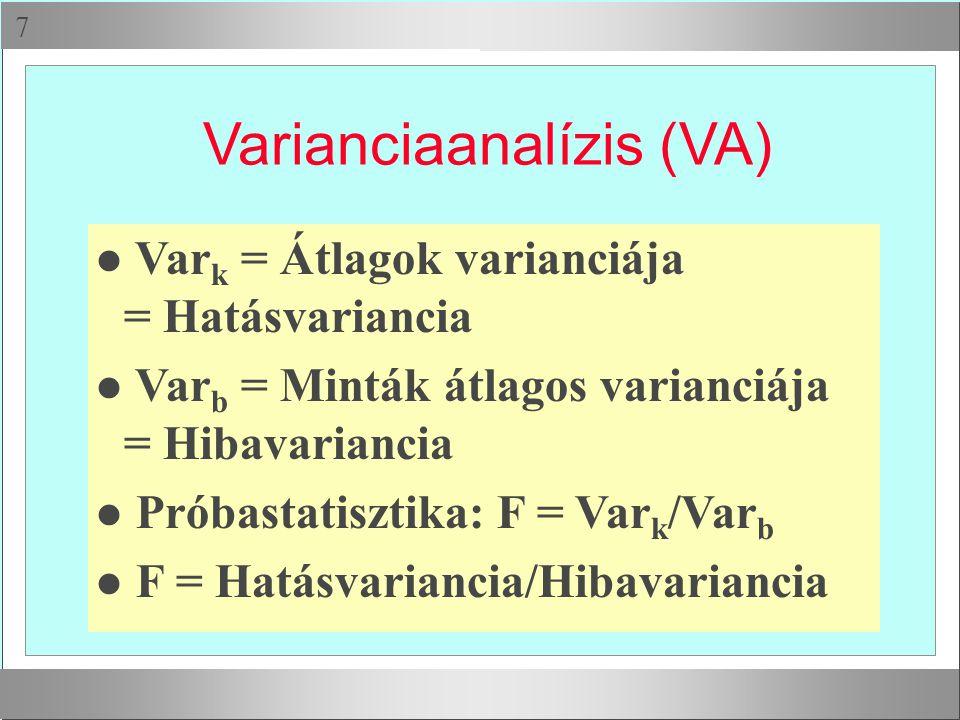 Varianciaanalízis (VA)
