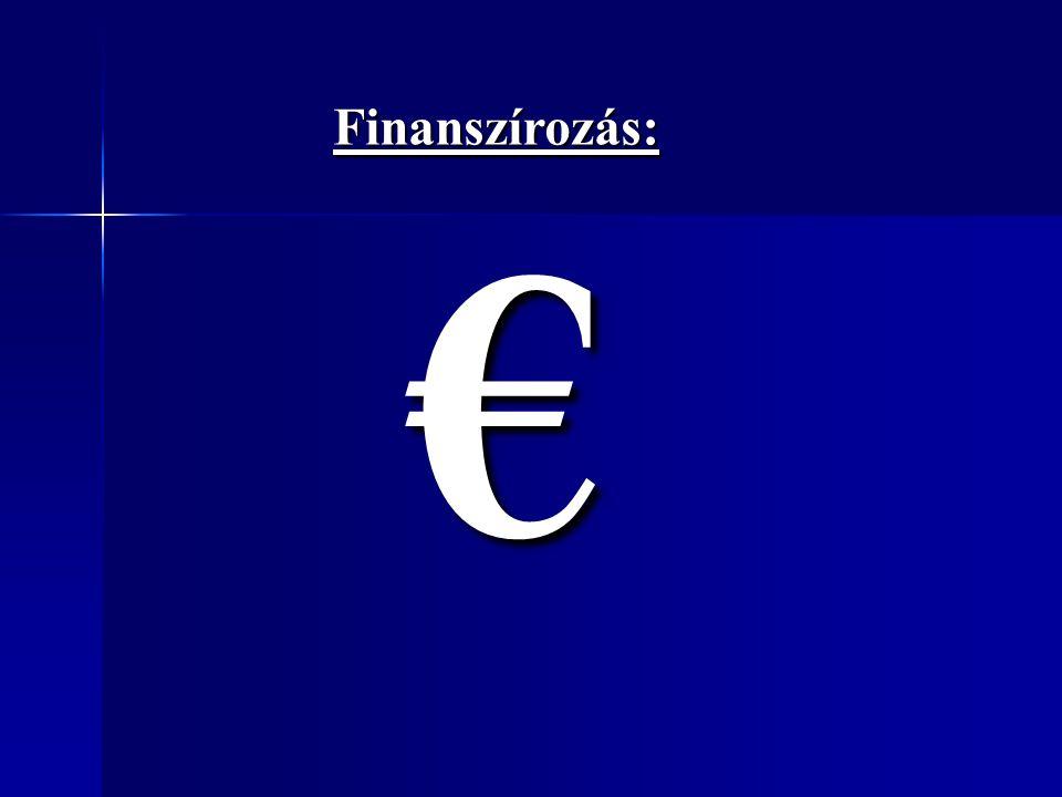 Finanszírozás: €