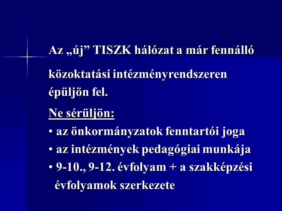 """Az """"új TISZK hálózat a már fennálló"""