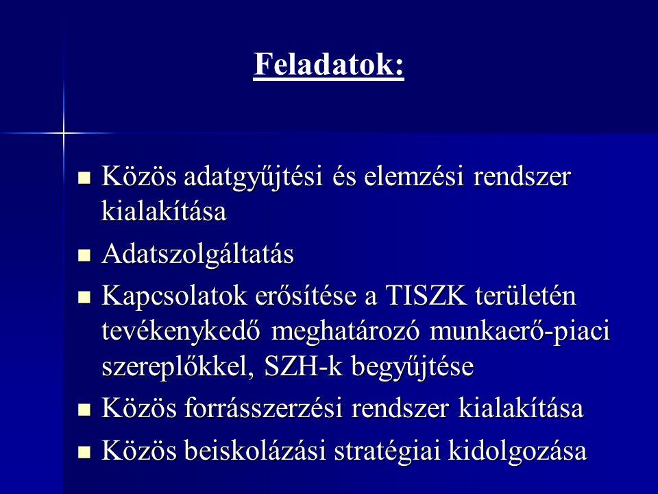 Feladatok: Közös adatgyűjtési és elemzési rendszer kialakítása