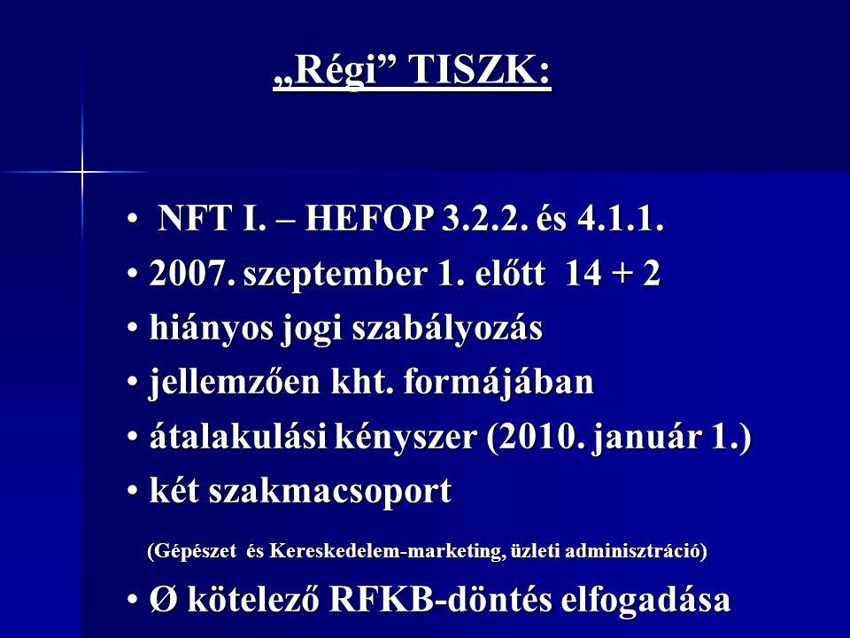 """""""Régi TISZK: NFT I. – HEFOP 3.2.2. és 4.1.1."""