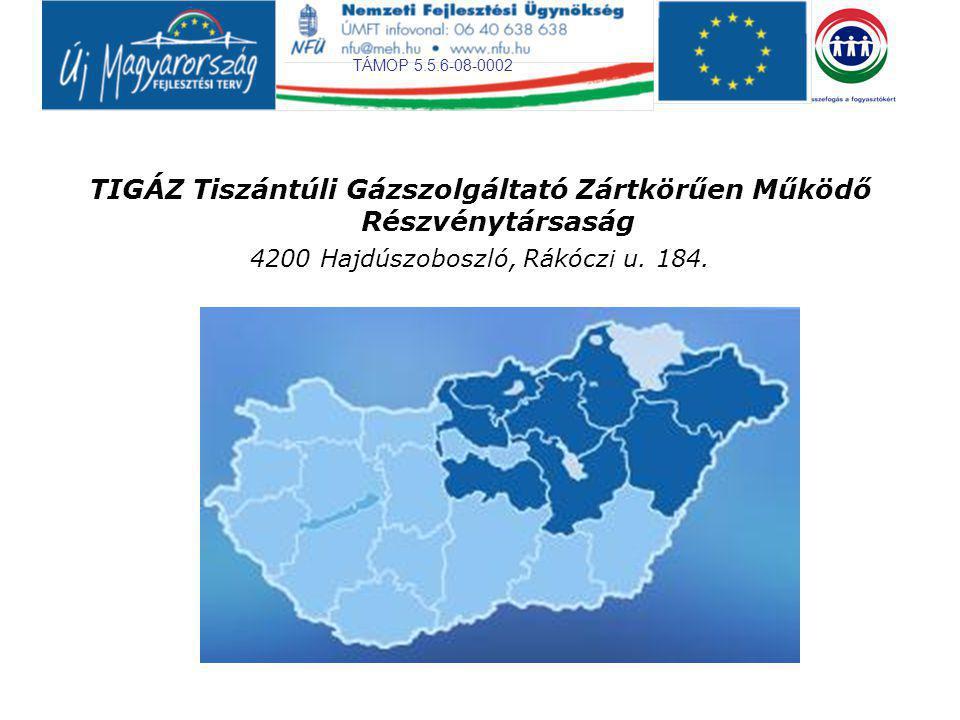 TIGÁZ Tiszántúli Gázszolgáltató Zártkörűen Működő Részvénytársaság