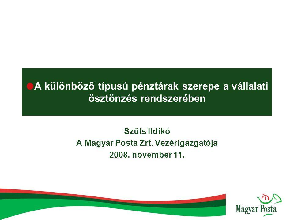 Szűts Ildikó A Magyar Posta Zrt. Vezérigazgatója 2008. november 11.