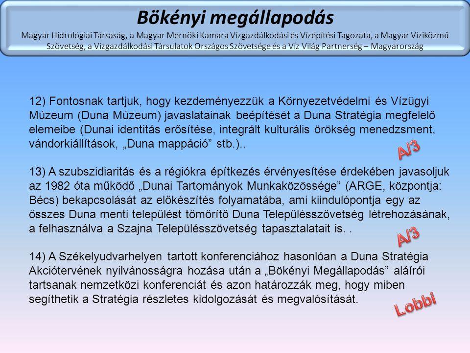 Bökényi megállapodás A/3 A/3 Lobbi