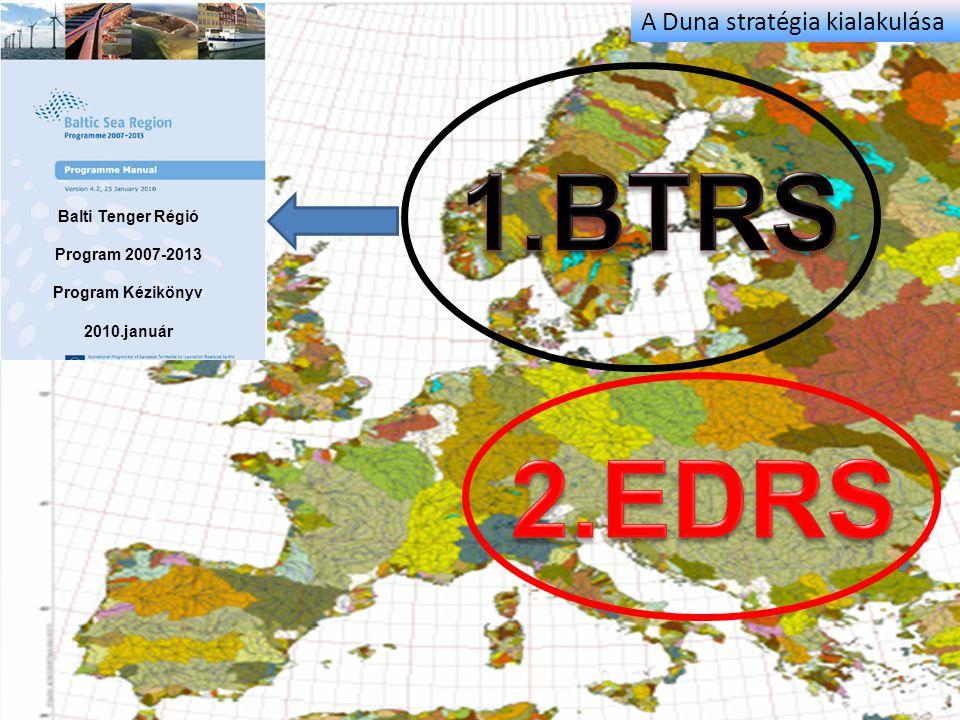 1.BTRS 2.EDRS . A Duna stratégia kialakulása Balti Tenger Régió