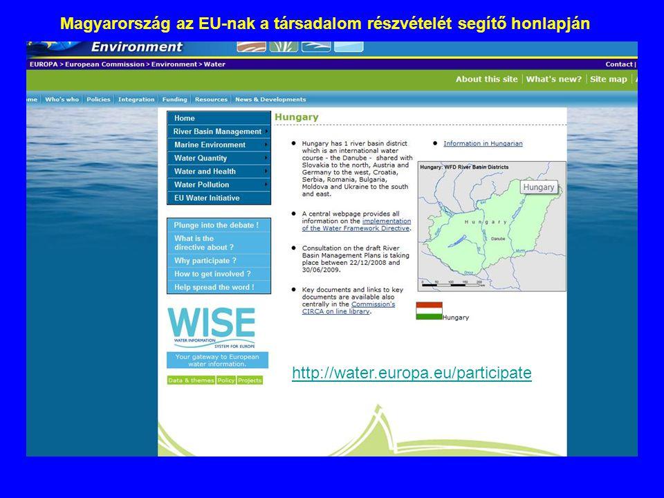 Magyarország az EU-nak a társadalom részvételét segítő honlapján