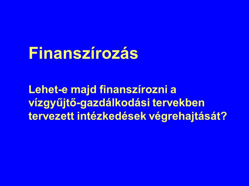 Finanszírozás Lehet-e majd finanszírozni a