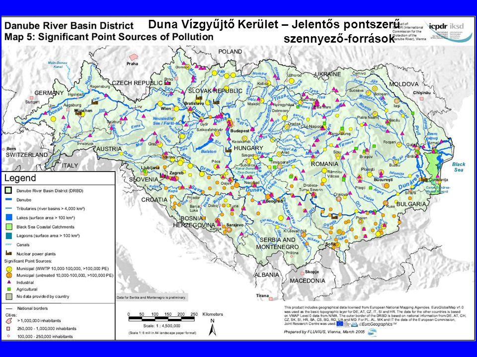 Duna Vízgyűjtő Kerület – Jelentős pontszerű