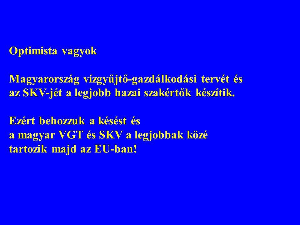 Optimista vagyok Magyarország vízgyűjtő-gazdálkodási tervét és. az SKV-jét a legjobb hazai szakértők készítik.