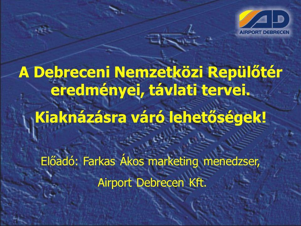 A Debreceni Nemzetközi Repülőtér eredményei, távlati tervei.