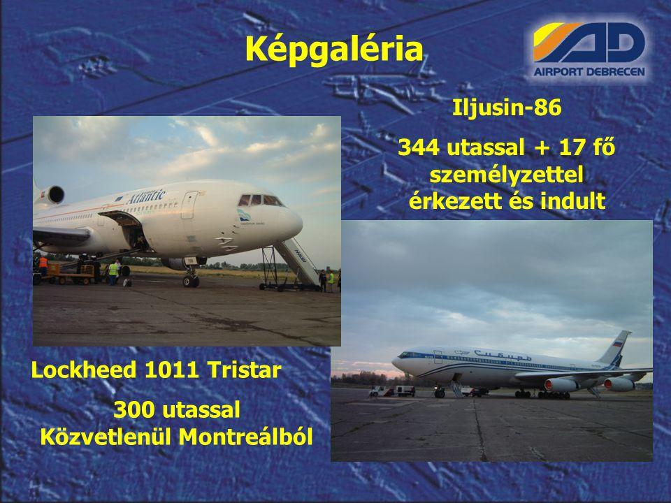 Képgaléria Iljusin-86. 344 utassal + 17 fő személyzettel érkezett és indult. Lockheed 1011 Tristar.