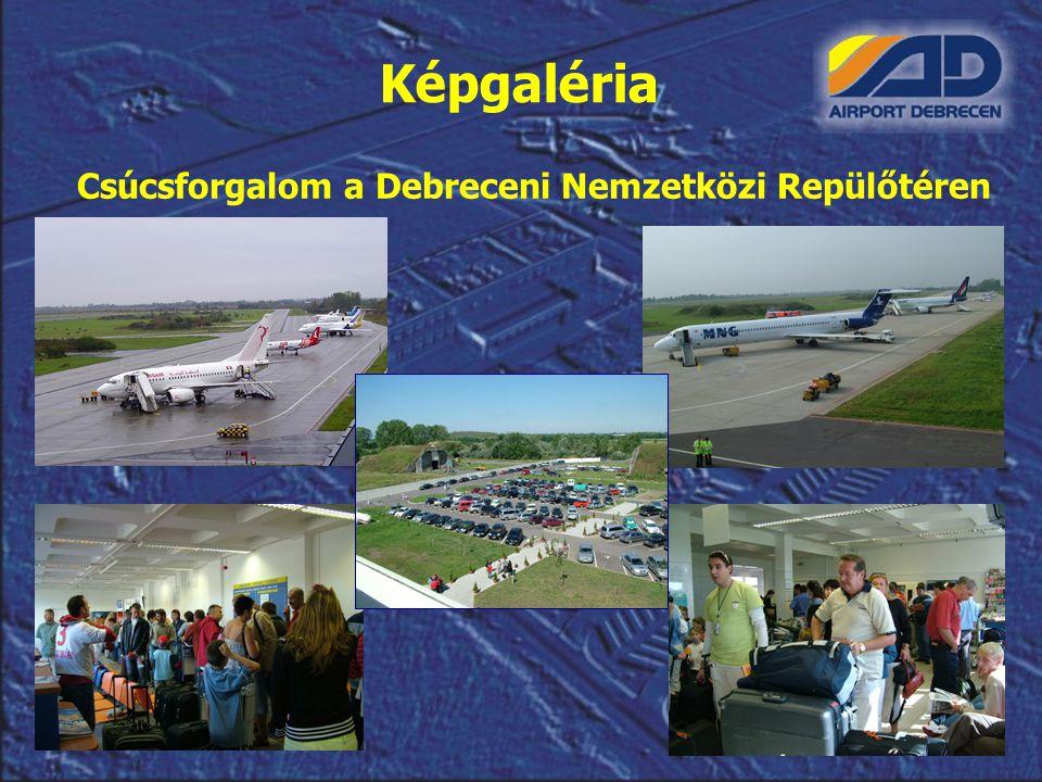 Csúcsforgalom a Debreceni Nemzetközi Repülőtéren