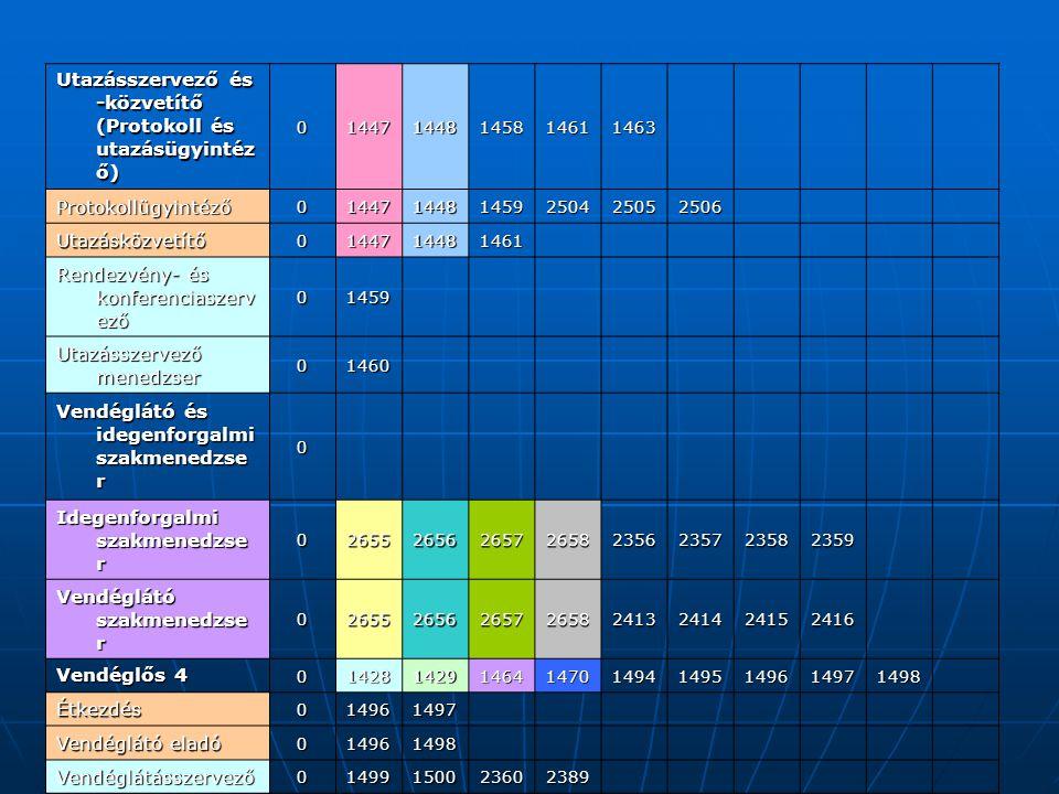 Utazásszervező és -közvetítő (Protokoll és utazásügyintéző)