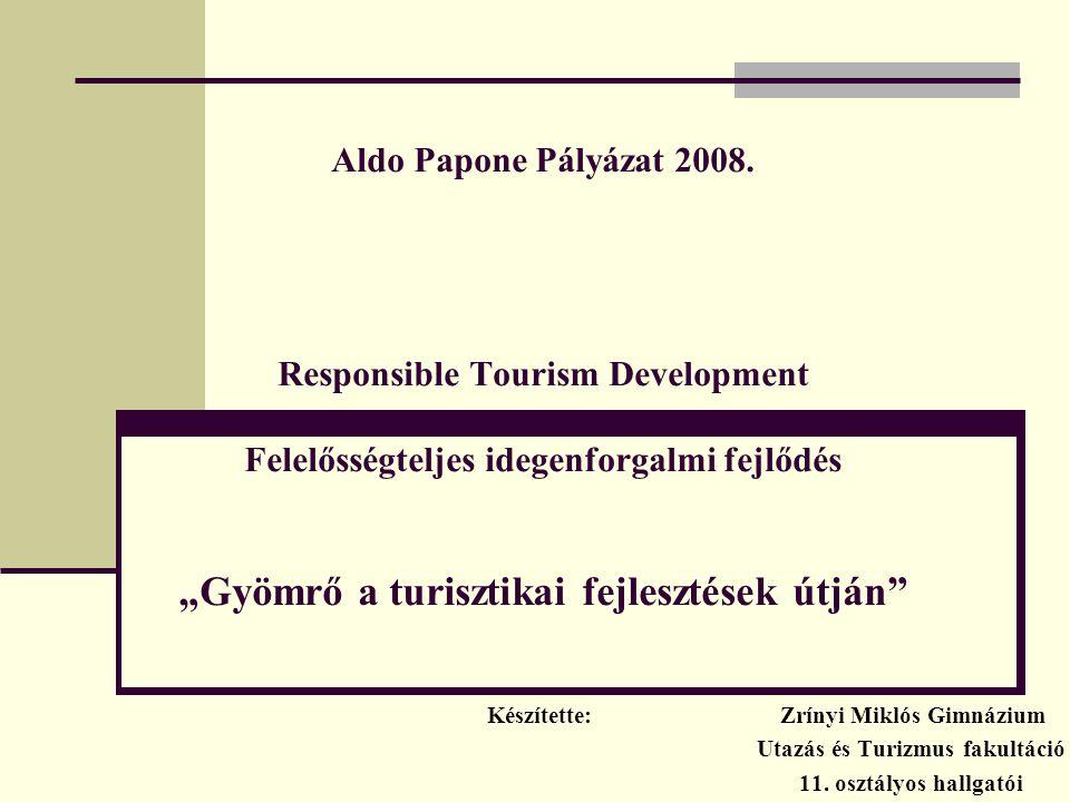 Készítette: Zrínyi Miklós Gimnázium Utazás és Turizmus fakultáció
