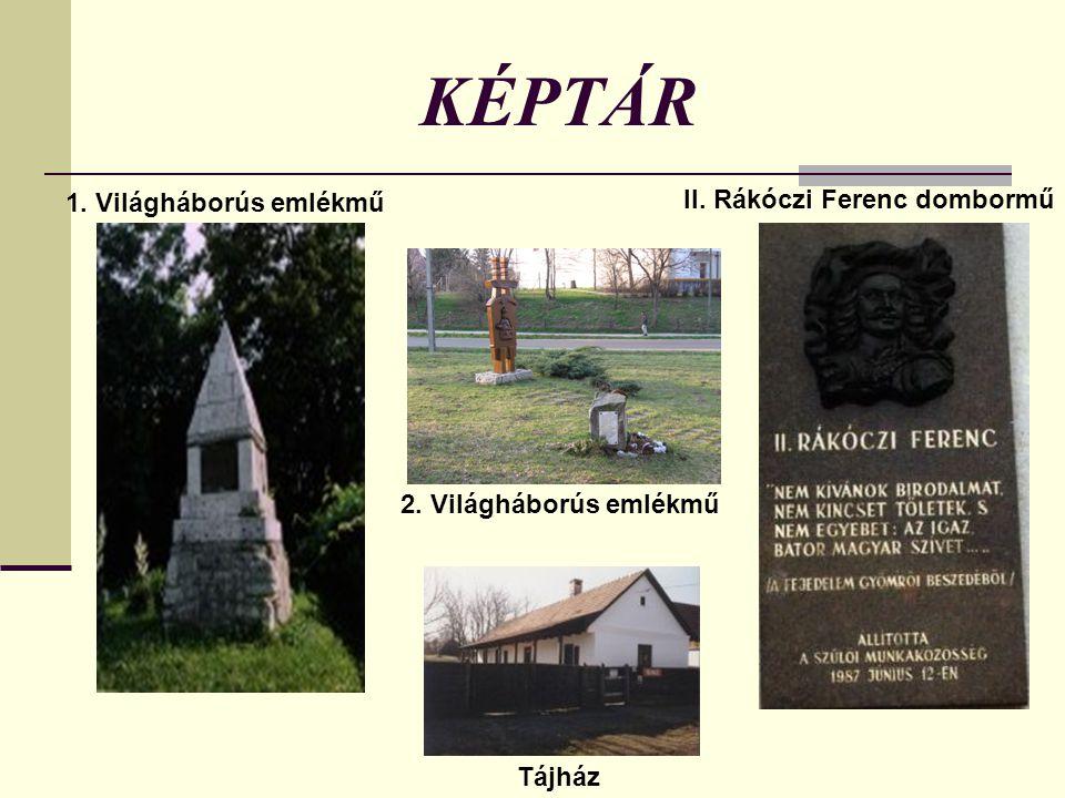 KÉPTÁR 1. Világháborús emlékmű II. Rákóczi Ferenc dombormű
