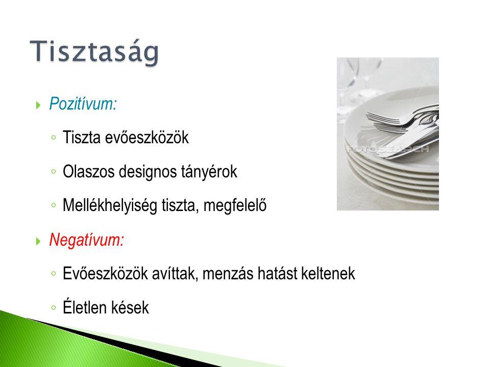 Tisztaság Pozitívum: Tiszta evőeszközök Olaszos designos tányérok