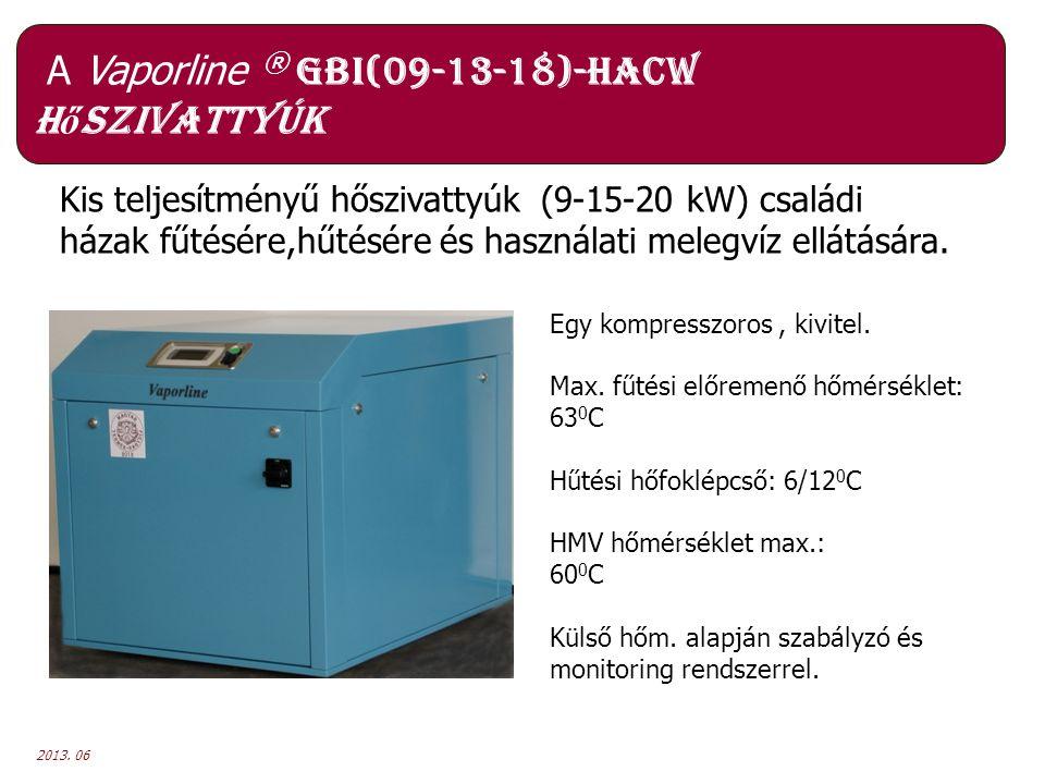 A Vaporline ® GBI(09-13-18)-HACW hőszivattyúk