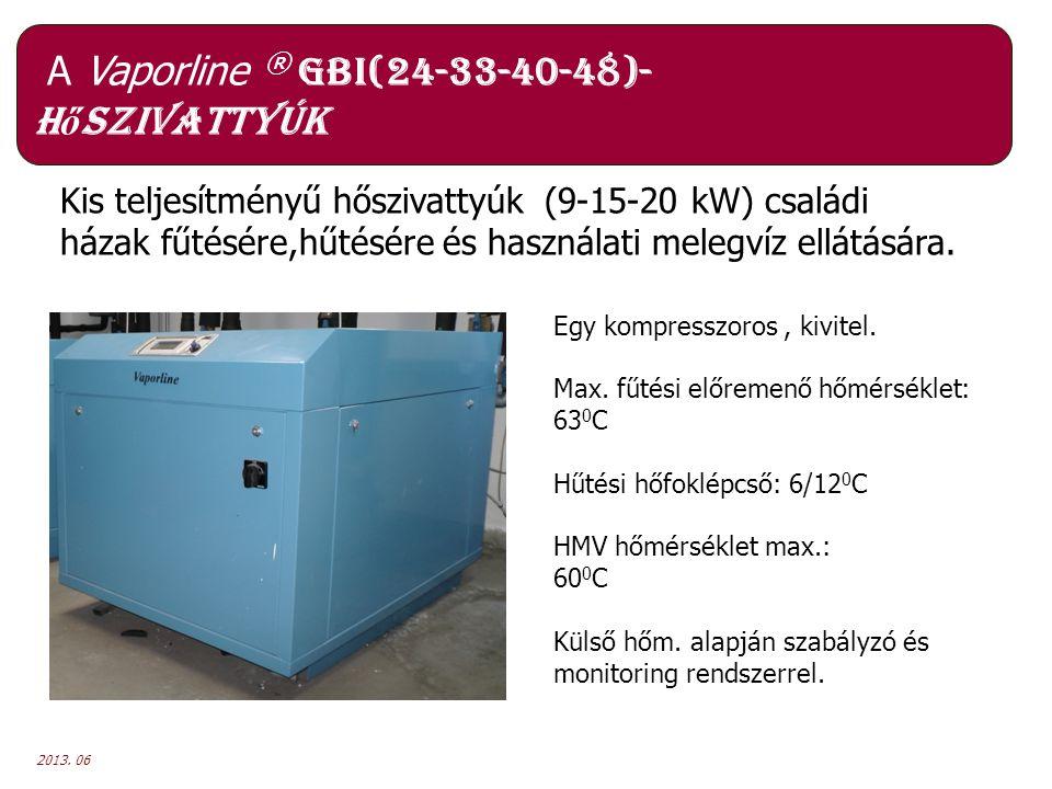 A Vaporline ® GBI(24-33-40-48)- hőszivattyúk