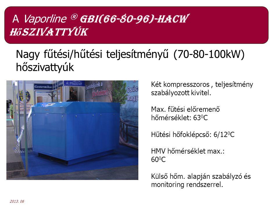A Vaporline ® GBI(66-80-96)-HACW hőszivattyúk