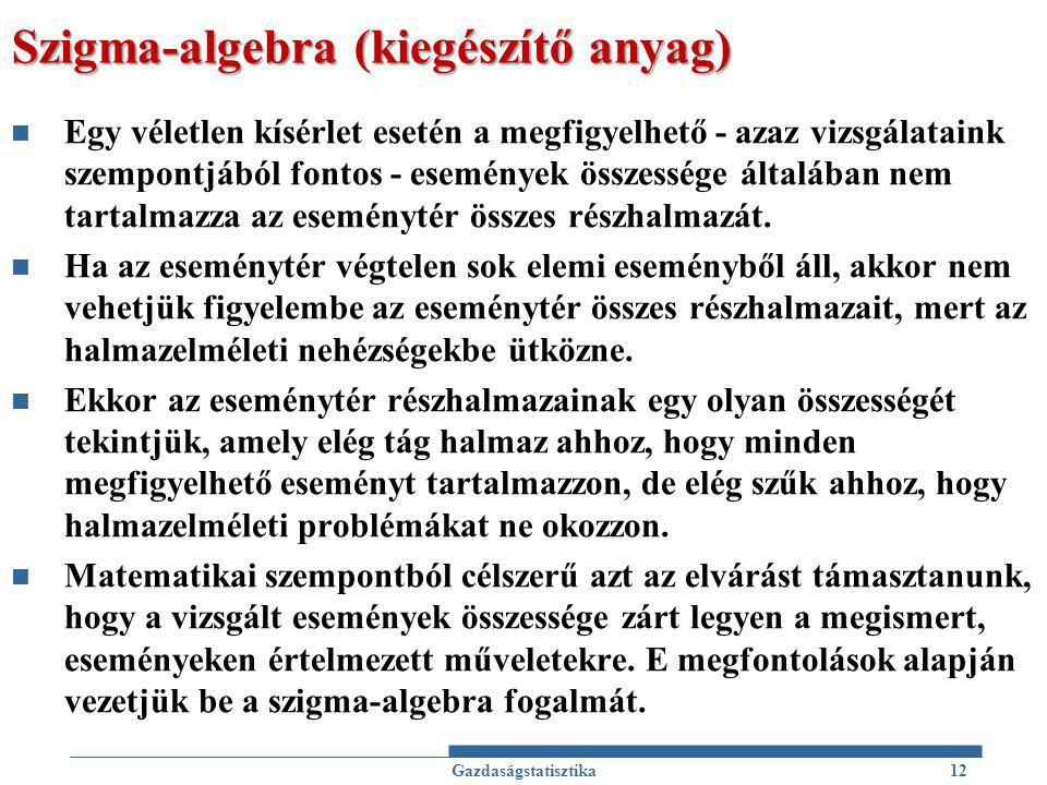 Szigma-algebra (kiegészítő anyag)