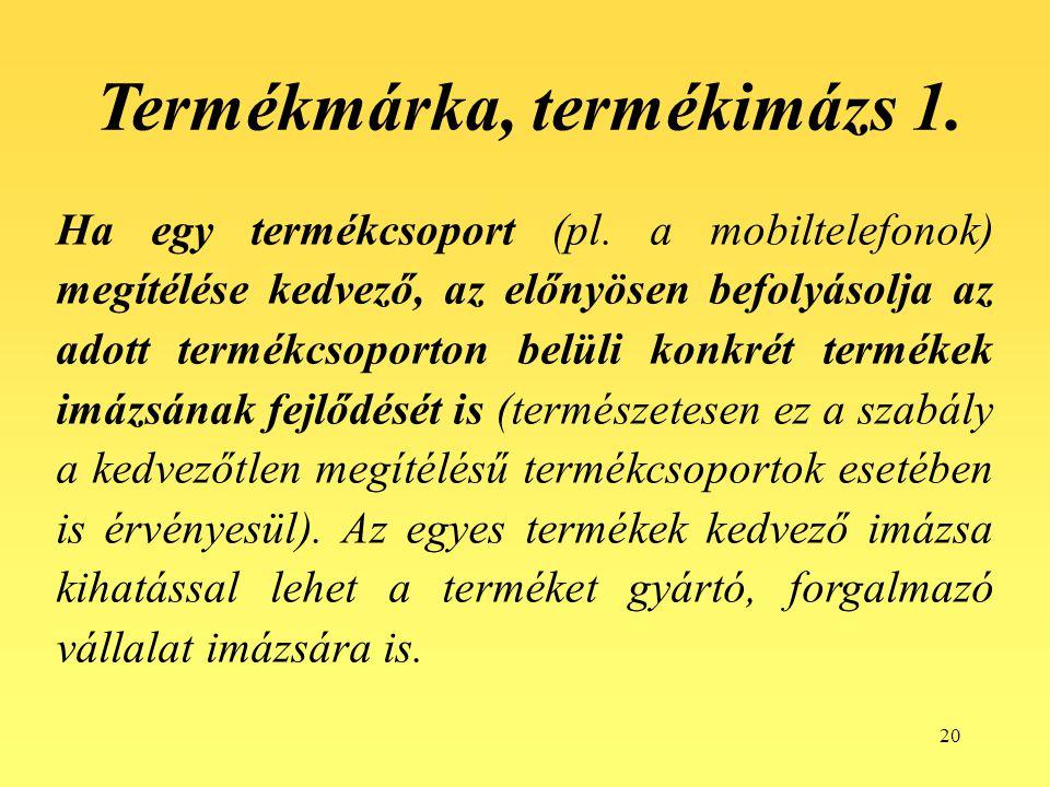 Termékmárka, termékimázs 1.