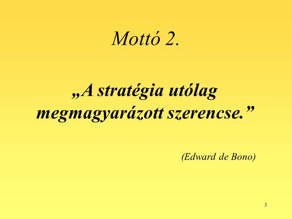 """""""A stratégia utólag megmagyarázott szerencse."""
