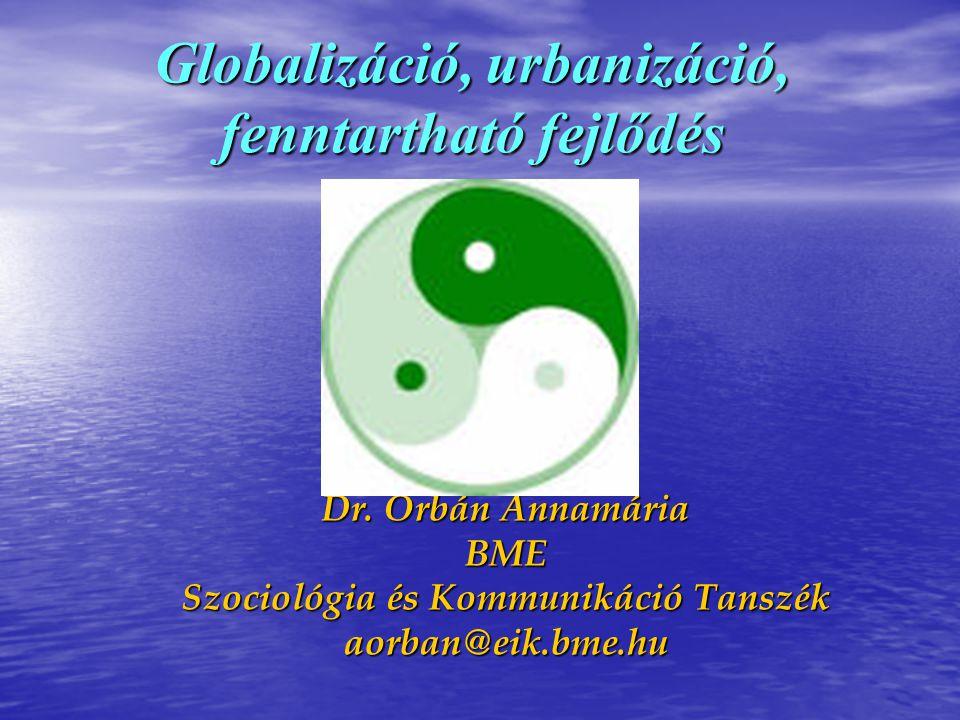 Globalizáció, urbanizáció, fenntartható fejlődés
