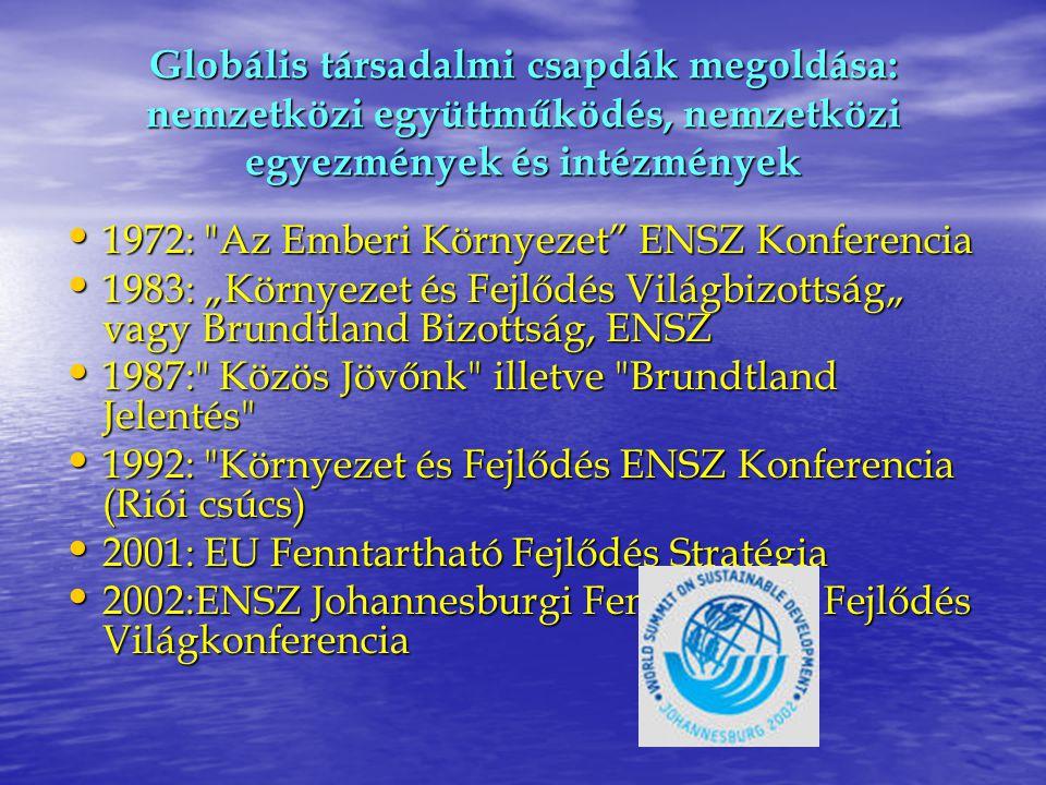 Globális társadalmi csapdák megoldása: nemzetközi együttműködés, nemzetközi egyezmények és intézmények
