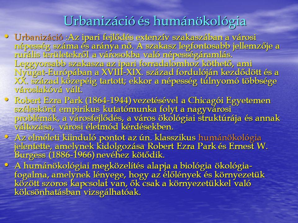 Urbanizáció és humánökológia
