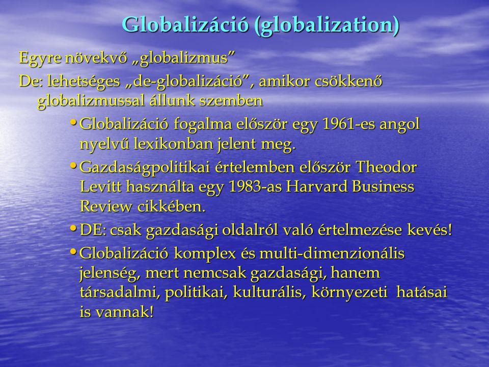 Globalizáció (globalization)
